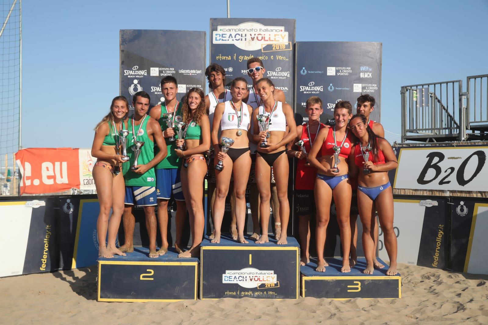 La laziale Erika Ditta campionessa d'Italia U19 di Beach Volley con Martina Ferrario