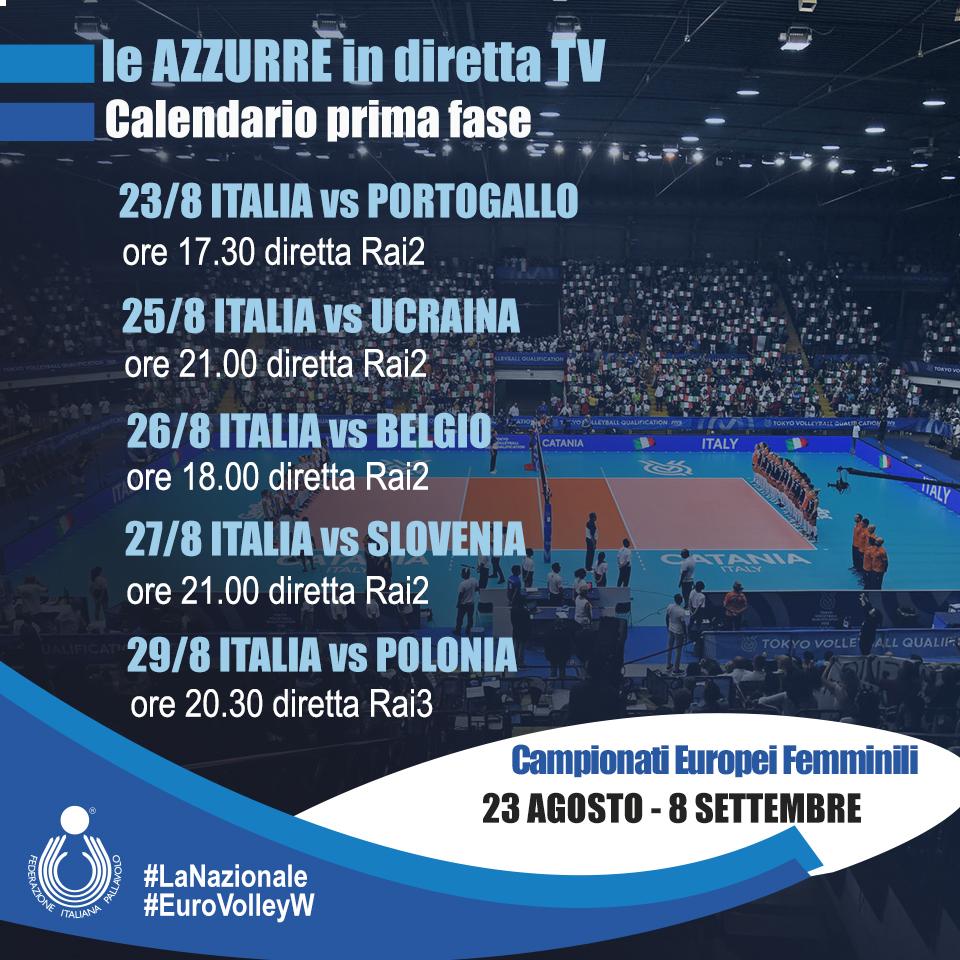 Calendario Campionato Portoghese.Campionato Europeo Femminile Le Gare Delle Azzurre In
