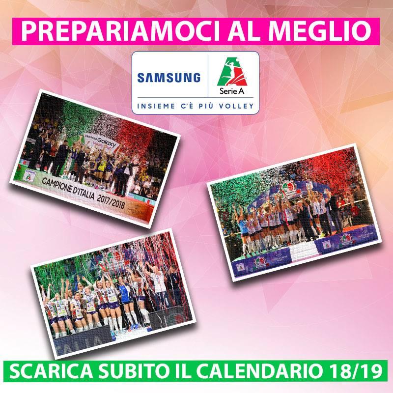 Serie A2 Pallavolo Maschile Calendario.Campionati Serie A Femminile 2018 19 Pubblicati I Calendari