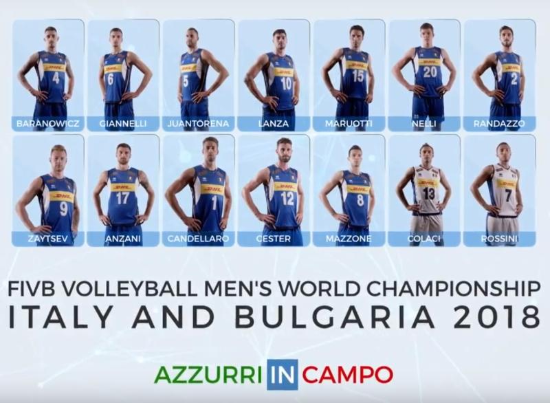 Calendario Pallavolo Maschile Mondiali.Mondiale Di Pallavolo Maschile 2018 I 14 Azzurri Nominati